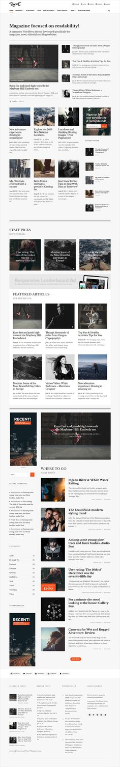 Recent is an elegant and minimalist design responsive #WordPress theme for #magazine and #blogging website focused on readability download now➩  https://themeforest.net/item/recent-magazine-wordpress-theme-focused-on-readability/19637227?ref=Datasata