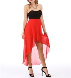 Black/Red Hi Lo Homecoming Dress...but for the right ocasion.