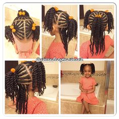 Natural hair style for kids ✨