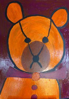 Orange teddy-bear.