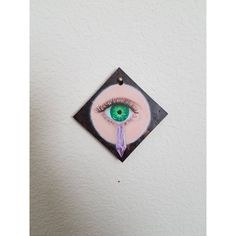 Amethyst Eye mini ORIGINAL OOAK oil painting, lovers eye, green eye,... (180 PLN) ❤ liked on Polyvore featuring home, home decor, wall art, eye painting, miniature paintings, interior wall decor, green wall art and green home accessories