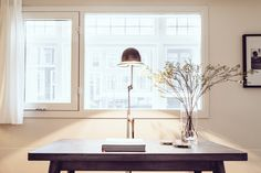 Tolix table and Jielde lamp