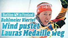 Bei der Biathlon-WM in Kontiolahti sprintet Laura Dahlmeyer auf Platz 4 | Wind pustet Lauras Medaille weg http://www.bild.de/sport/wintersport/biathlon/wind-pustet-medaille-von-laura-dahlmeier-weg-40065214.bild.html