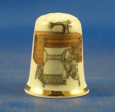 Fine China Thimble Singer Treadle Sewing Machine for sale online Treadle Sewing Machines, Antique Sewing Machines, Sewing Spaces, Sewing Rooms, Sewing Machine For Sale, Sewing Kits, Sewing Equipment, Vintage Sewing Notions, Tatting Patterns