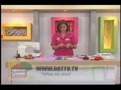 Sonia Franco. Programa Nuestra Casa. Elaboración de Drapeado y Flores 5/5 - YouTube