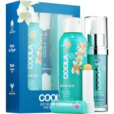 COOLA Best Sellers SPF Trio Face & Body Set ($48) ❤ liked on Polyvore featuring beauty products, gift sets & kits and coola suncare