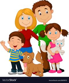 Happy family vector image on VectorStock Urdu Stories For Kids, Moral Stories For Kids, Cartoon Familie, Family Vector, Family Clipart, Family Drawing, Preschool Writing, Video X, Family Illustration