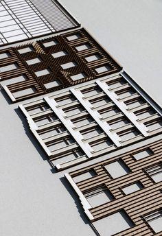 Nik Vandewyngaerde Source by Temple Architecture, Architecture Drawings, Architecture Details, Facade Design, House Design, Model Sketch, 3d Modelle, Arch Model, Planer