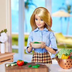 WEBSTA @ barbiestyle - It's taco night! Prepping it fresh for tonight's guests, I love entertaining at home! #barbie #barbiestyle