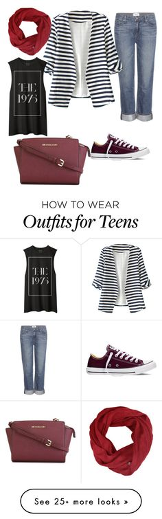 """""""For hijab style"""" by nisacandysugar on Polyvore featuring Converse, Paige Denim, WithChic, MICHAEL Michael Kors, women's clothing, women, female, woman, misses and juniors"""
