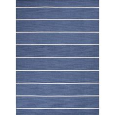 Handmade Contemporary Flat-weave Blue Stripe Wool Rug (8' x 10') - Overstock™ Shopping - Great Deals on 7x9 - 10x14 Rugs