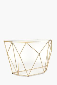 Metallic Geometric Wire Server - Shop New In - Furniture - Shop Wire Coffee Table, Wire Side Table, Metal Furniture, Dining Room Furniture, Sideboard, Cool Designs, Contemporary, Metallic, Stuff To Buy