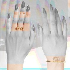 'Pierced' Open ring with charms: an open ring in the style of an over-sized piercing Open Ring, Body Modifications, Piercing, Shop Now, Charms, Shopping, Collection, Style, Fashion