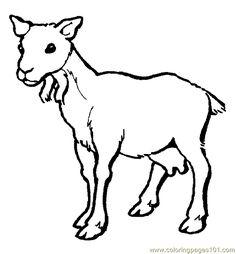 Cartoon Animalbrown Goat Vector