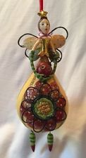 PATIENCE BREWSTER Christmas Krinkles Ornament Angel with Lady Bug