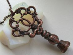 Key necklace  with genuine vintage key  Gift under 20 by Timewatch, $19.00