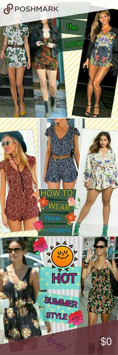 SUMMER STYLE IDEAS: FLORAL ROMPERS Some of us call them jumpers, others call it a romper, one piece, playsuit and the list no doubt continues on! No matter what you call them, these darling outfits are definitely fashionable and a great pick for your closet!❤ Summertime is here, and I wanted to showcase some various ways to style this lovely wardrobe piece for some fun this season!!❤Enjoy!❤ XOXOXO❤ ❤Rompers Style Guide❤ Shorts Skorts