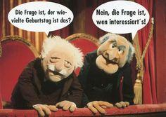 Postkarte - Waldorf und Statler Postkarten Lustige Sprüche