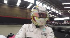 Mercedes AMG Petronas F1 - Go Karting With Lewis Hamilton (VIDEO)