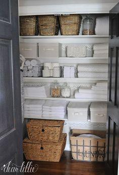 Organized linen closet dear lillie