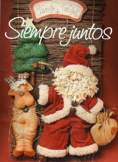 revistas de manualidades gratis Christmas Stockings, Christmas Holidays, Christmas Crafts, Xmas, Christmas Ideas, Ideias Diy, Burlap Wreath, Gingerbread Cookies, Happy Halloween