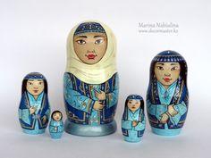 Kazakh souvenirs. Kazakh matryoshka
