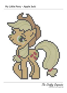My Little Pony - Applejack Inspired PDF Cross Stitch Pattern - INSTANT DOWNLOAD