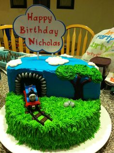Thomas the train cake - so many to choose from!!! @Karen Jacot Jackson @Suzee Collinsworth Loughmiller