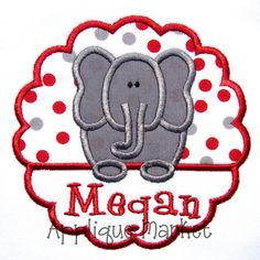 Machine Embroidery Design Applique Elephant Scallop INSTANT DOWNLOAD on Etsy, $4.00