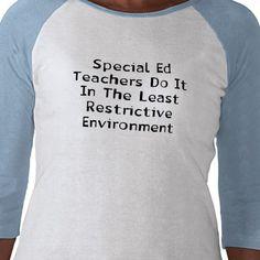 :) I love special education.