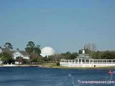 Sea Breeze Point @ Disney's Boardwalk Inn. Nestled on Crescent Lake. Beautiful views of Yacht & Beach Club from the gazebo. And Spaceship Earth in the background. <3