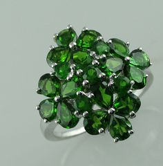 Chrome Diopside 6.31 Ct Natural Ring Ladies & Women Silver 925 Gemstone Jewelry #SGL #ExclusiveCollection Jewelry Rings, Jewellery, Garnet, Exotic, Chrome, Simple Rings, Gemstone Rings, Type, Gemstones