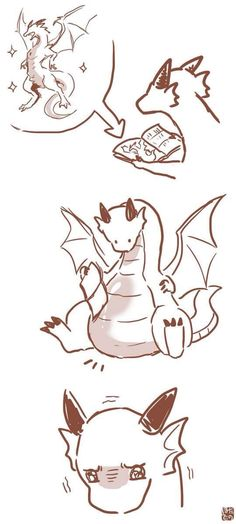 Cute Kawaii Drawings of dragons - Bing images Furry Art, Arte Furry, Fantasy Creatures, Mythical Creatures, Animal Drawings, Art Drawings, Art Du Croquis, Art Mignon, Cute Dragons