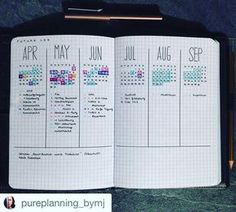 I always run out of room in my future log. I love these@pages by @pureplanning_bymj. Writing the months vertically gives her lots more room.