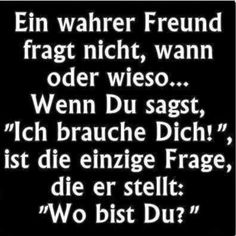 Das ist Freundschaft: - New Ideas Wise Quotes, Words Quotes, Funny Quotes, Sayings, Cl Album, Funny Friday Memes, German Quotes, Epic Texts, True Friends