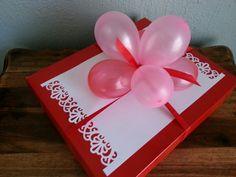 Water balloon gift topper ♥ Balloon Gift, Water Balloons, Giving, Christmas, Gifts, Xmas, Presents, Navidad, Noel