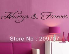 Aliexpress.com : Buy Free Shipping DIY Alway Forever Quote Removable Vinyl Wall Stickers Decal Wallpaper Art Home Decor WAS0133 from Reliable wall sticker suppliers on Argos Technology Co.,  LTD.