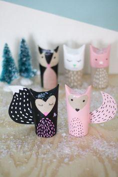 Paper Roll Craft | Pink Fox