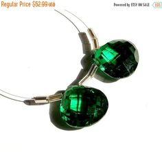 45% OFF SALE Matched Pair 15mm AAA Emerald by GemsAndBeadsEmporium