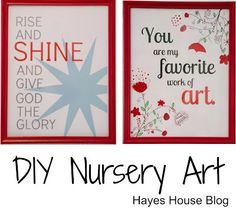 Hayes House: DIY Nursery Art