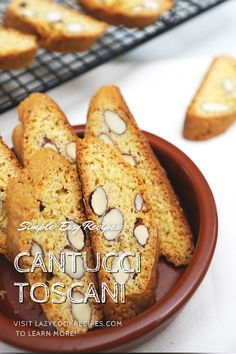 Cantuccini, known also as cantucci, are well-known Italian almond biscuits that originated in the Tuscan city. They are baked twice for extra dryness and crunchiness. It is an authentic Italian cuisine recipe with simplified steps and ingredients required! Check out our website where could you find the written step by step recipes with images and videos to teach you how to become a better cook at home! Italian Almond Biscuits, Fun Cooking, Cooking Recipes, Delicious Recipes, Tasty, Good Food, Yummy Food, Incredible Recipes