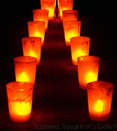 Sidewalk DIY Luminaries - Light the pathway for trick or treaters this fall with these Halloween crafts.