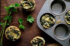 A Reader Recipe: Gluten-Free Green Egg Muffins: Breakfast getting stale? Try this recipe for gluten-free egg muffins from reader Gabysgfree for a quick weekday breakfast on the go. Egg Recipes, Gluten Free Recipes, Great Recipes, Cooking Recipes, Favorite Recipes, Recipe Ideas, Muffin Recipes, Healthy Breakfast Recipes, Healthy Recipes