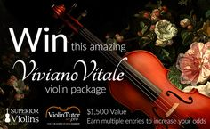 Help me Win a Vitale violin package worth $1,500 on April 30th!