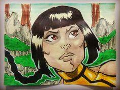 Tanya, Edenia, Mortal Kombat Deception, post it paper yellow.