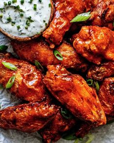 Crispy buffalo chicken wings are the perfect crowd-pleasing wing recipe for any day of the week! These wings are perfectly crispy and compliant! Lemon Pepper Chicken Wings, Cilantro Lime Chicken, Buffalo Chicken Sauce, Thai Crunch Salad, Primal Kitchen, Buffalo Wings, Chicken Wing Recipes, Healthy Chicken, Main Dishes