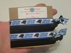 Carolina Panthers - NFL - Set of 4 Hair Ties - Ready to Ship