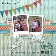 Crafty Colonel: #ClubScrap Big Top Blog Hop digital layout by Donna Nuce