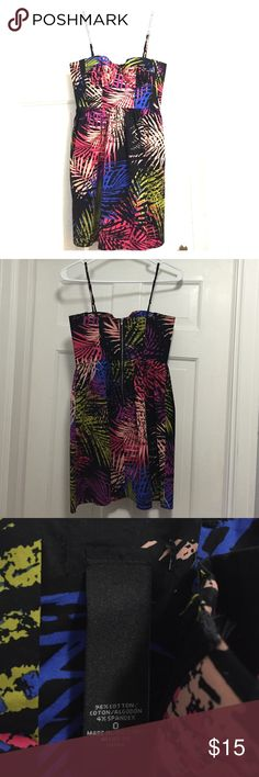Palm Tree Bustier Dress Palm Tree Bustier Dress. Worn once. Size 0. Cut part of the tag off so there is a small tear near the other tag. Great condition otherwise! Dresses