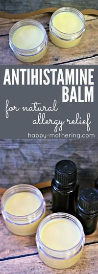 Natural Remedies For Allergies Are you looking for natural allergy relief remedies or products that works? Learn how to make our DIY antihistamine balm. It combines essential oils with natural ingredients for quick and reliable allergy relief. Natural Allergy Relief, Natural Allergy Remedies, Natural Congestion Remedies, Seasonal Allergy Remedies, Natural Sinus Relief, Homeopathic Remedies For Allergies, Salud Natural, Essential Oil Blends, Diy With Essential Oils